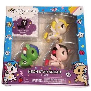 Neon Star By Tokidoki Neon Star Squad 4 Pack